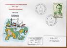 TAAF PLI KERGUELEN TP 238 Obl. 7 - 4-2000 Sur Enveloppe Illustrée 50 ème Anniversaire 1949/1950  Voir Photo. - Zonder Classificatie