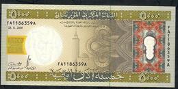 MAURITANIA P15 5000 OUGUIYA 2009 #FA  Issued 2010 - Mauritanië