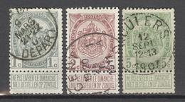 Serie 1907 OBP 81/83 GEST. - COTE Euro 8,50 - 1893-1907 Stemmi