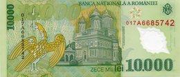 ROMANIA - 10000 LEI POLYMER 2000 - 2001 UNC P 112 - Rumania