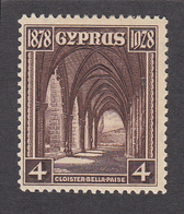 Cyprus 1928 50th Anniv.British Rule 4pi  MH - Cyprus (...-1960)