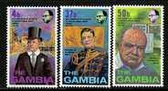 Gambia 306-8     *   CHURCHILL - Gambia (1965-...)