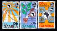 Gambia 319-21     **   BANKING - Gambia (1965-...)