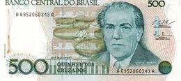 BRAZIL 50 CENTAVOS ON 500 CRUZEIROS ND See Scan - Brésil