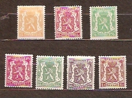 België   1945  Nr 710-715 + 713A  MNH **   Postfris Zonder Scharnier Exelent - Nuovi