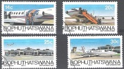 Bophuthatswana 1986 Michel 177-180 O Cote (2002) 2.50 Euro Avions Cachet Rond - Bophuthatswana
