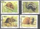 Bophuthatswana 1990 Michel 235 - 238 O Cote (2002) 4.00 Euro Animaux Du Bois Cachet Rond - Bophuthatswana