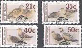 Bophuthatswana 1990 Michel 239 - 242 O Cote (2002) 6.50 Euro Oiseaux Cachet Rond - Bophuthatswana