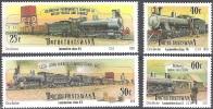 Bophuthatswana 1991 Michel 265 - 268 Neuf ** Cote (2002) 6.30 Euro Trains - Bophuthatswana