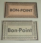 Rare Lot De 2 Anciens BON-POINT Bons-points D'école, Frises De Vagues Et De Ronds Avec écoinçons (croix Fleurdelysées - Vieux Papiers