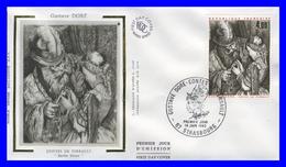 2265 (Yvert) Sur Enveloppe Premier Jour Illustrée Sur Soie - Gustave Doré Contes De Perrault Barbe Bleue - France 1983 - FDC