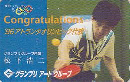 Télécarte Japon / 110 -011 - SPORT - PING PONG - JO Atlanta USA 1996 - TABLE TENNIS Olympic Games Japan Phonecard - 150 - Sport