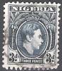 Nigeria 1938 Michel 53 O Cote (2002) 0.20 Euro Roi George V Cachet Rond - Nigeria (...-1960)