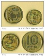 Israel: Pièces De 5 Et 10 Agorot .....CUIVRE - Israel
