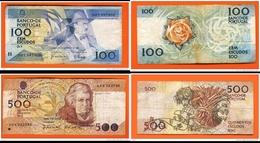 1988-500 ESCUDOS DU 4 AOUT &   1988- 100 ESCUDOS 24 NOVEMBRE PORTUGAL - Portugal