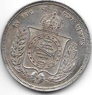 *brazil  500 Reis 1855  Km 464  Xf+ Catalog Val 49,00$ - Brésil