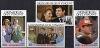 Hochzeit Ferguson+Andrew Grenadinen 497/0 ** 7€ Königliche Familie Mit Prinz Charles/ Lady Diana Honey-moon Of Vincent - Berühmt Frauen