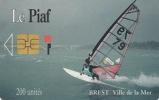 # PIAF FR.BRE4 BREST Planche A Voile 200u Iso 1000 Neant 29110112 - Tres Bon Etat - - PIAF Parking Cards