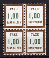 France - 1972 - 85 - FICTIF Taxe Bloc De 4 - Phantomausgaben
