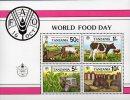 Welt-Ernährung 1982 Tansania Block 30 ** 5€ Pflug Kuh Traktor Im Mais Getreide-Silo Ratte M/s FAO Bloc Sheet Bf Tanzania - Ernährung