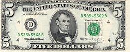5 Dollari  $  USA Series 1995 D SERIES..- Cleveland Unc - Etats-Unis