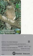 "NORFOLK ISL. - Boobook Owl/The World""s Rarest Bird(series No: 2 SCC), Tirage %7000, Used - Norfolkinsel"