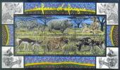TOGO * S/S 6v * YEAR 2002 * ZEBRA RHINO HYENA GAZELLE ANTILOPE LEOPARD * MNH - Togo (1960-...)