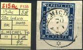 S15Ac-F135 SARDEGNA 1858 20c Indaco Scuro, Annullo ST MICHEL (Savoia) - Sardaigne