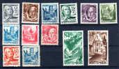 Wurtemberg 1947-48, Occ Fran, Schiller, Holderlin, Wangen, Liechtenstein, Zwiefalten, 1 / 13** - Zone Française