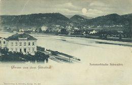 AK Sommerfrische Schwaden Svadov Mondschein ~1900 #01 - República Checa