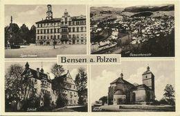 AK Bensen A. Polzen Sudeten Tetschen 4 Bilder 1943 #01 - Czech Republic
