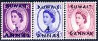 556 Kuwait 3,4,6 Annas Surcharged 1956 Mint Neufs (KUW-17) - Kuwait