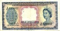 MALAYSIA MALAYA & BRITISH BORNEO BLUE $1 QEII HEAD DATED 21-03-1953 P.? VF READ DESCRIPTION !! - Malaysie