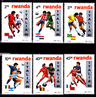 Rwanda 1301 / 06 Coupe Du Monde De Football 1990 En Italie - 1990-99: Neufs