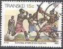 Transkei 1984 Michel 148Y O Cote (2002) 0.50 Euro Xhosa Canne De Combat Cachet Rond - Transkei