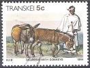 Transkei 1984 Michel 141 O Cote (2002) 0.10 Euro Xhosa Aller Au Marché Avec Anes Cachet Rond - Transkei