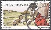 Transkei 1976 Michel 5C O Cote (2002) 0.10 Euro Préparation Du Pain Cachet Rond - Transkei