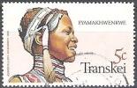 Transkei 1981 Michel 92 O Cote (2002) 0.20 Euro Xhosa Jeune Fille Cachet Rond - Transkei