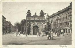 AK Stettin Szczecin Königstor Geschäfte Radfahrer 1929 #33 - Pommern