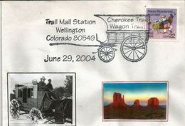 Cherokee Trail (La Piste Cherokee De La Conquête De L´Ouest) A Travers Le Colorado Sur Lettre - American Indians