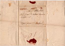 Capri-00138a - Piego Assicurato (con Testo) Diretto A Ischia, Il 23 Aprile 1824. - Italia