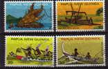 PAPOUASIE.   Courses De Canoes & Canoes Des Iles.4 T-p Oblit. Yv. 278/81.cote 5.50 €.Serie Complete - Canoa