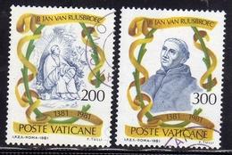CITTA DEL VATICANO VATIKAN VATICAN CITY 1981 BEATO JAN VAN RUUSBROEC SERIE COMPLETA USATA USED OBLITERE' - Vaticano (Ciudad Del)