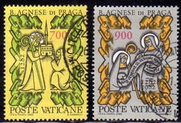 VATICANO 1982 S.AGNESE SERIE COMPLETA USATA USED OBLITERE' - Vaticano (Ciudad Del)