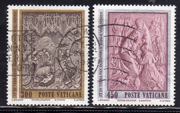 VATICANO 1982 NATALE SERIE COMPLETA USATA USED OBLITERE' - Vaticano (Ciudad Del)