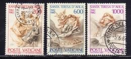VATICANO 1982 S.TERESA SERIE COMPLETA USATA USED OBLITERE' - Vaticano (Ciudad Del)
