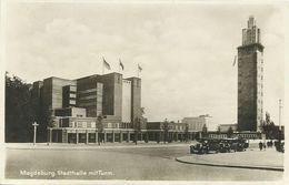 AK Magdeburg Stadthalle Turm Oldtimer ~1930/40 #03 - Magdeburg