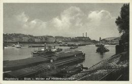 AK Magdeburg Schiffe Hindenburgbrücke 1932 #09 - Magdeburg