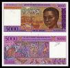 Madagascar - 5.000 Francs 5000 Date: (1995) Catalog No.: 078b Grading: UNC - Madagaskar