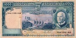 Angola 1000 Escudos 1970 Americo Tomas Mabuba Deer - Portugal